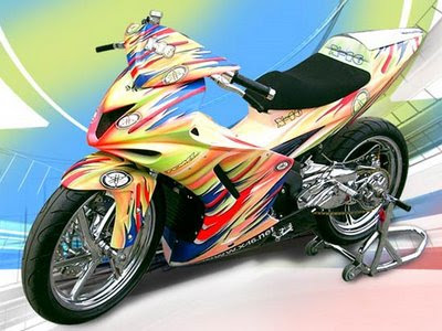 Modification Yamaha MX Tribal Chrome Paint Colorful Full Specification