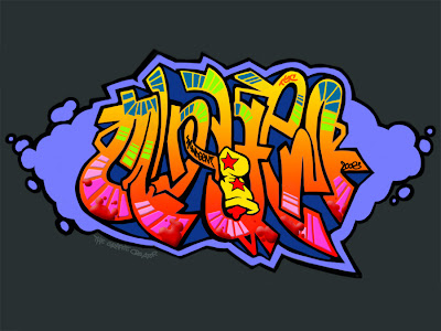 Graffiti Wallpaper Desktop Background Digital Graffiti Alphabet Bubble Black