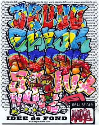 Graffiti alphabet A to Z colorful printouts. Graffiti alphabet printables