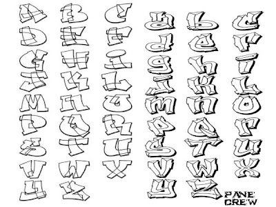 Graffiti Alphabet Fonts A-Z >> Design By New Graffiti