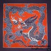 Batik Quilt Fabrics Dragon Motif