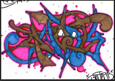 GRAFFITI WRITING ALPHABET