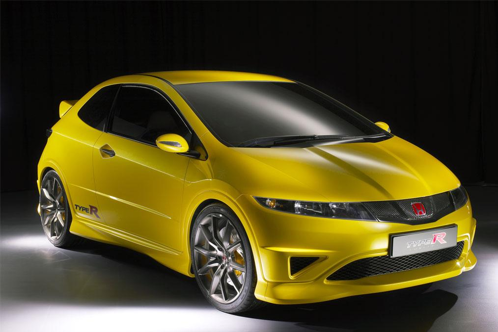 honda civic type yellow wallpaper