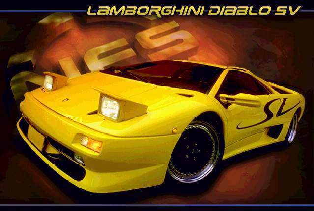 Lamborghini Diablo SV Posters,