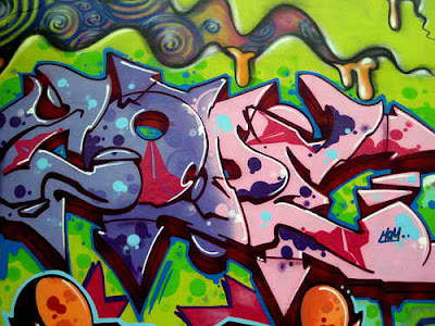 Symbol Of Art and Graffiti Style Alphabet