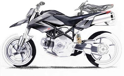 Ducati Touring Bike Sketch