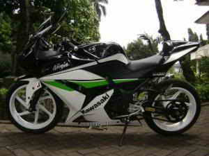 cutting ninja 250 gambar modifikasi airbrush ninja