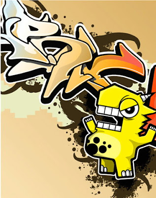 Graffiti Alphabet Cartoon Characters