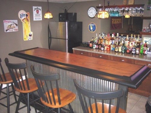 Corrugated Metal Home Bar