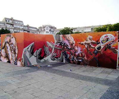 Graffiti Characters And 3D Street Art Graffiti