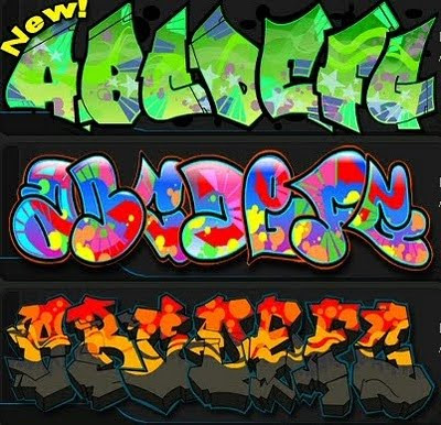 graffiti alphabet styles bubble. 3 New Style Graffiti Alphabet