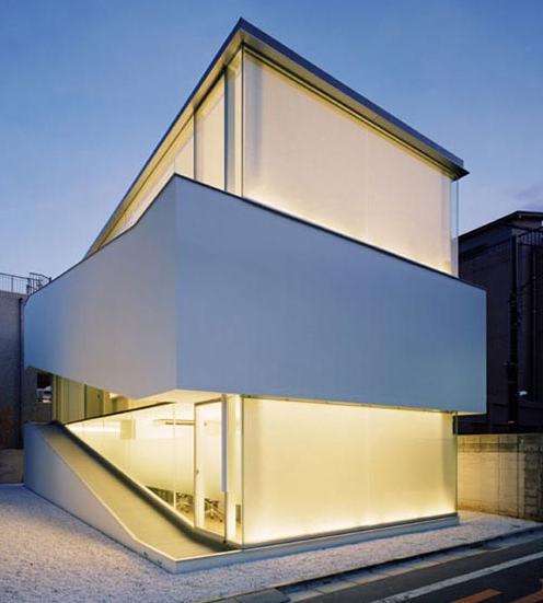 Japanese minimalist design unique house for Minimalist japanese homes