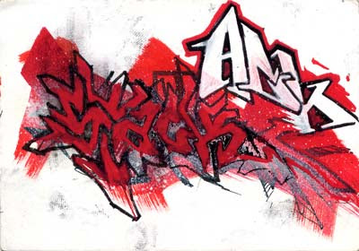 Red Graffiti Digital New