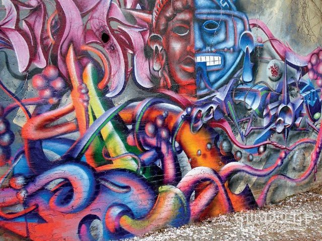 GRAFFITI FONTS: Graffiti Mural 2 Face