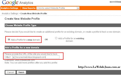 Google Analytics en Blogger - paso 2