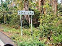Cayacal roadsign