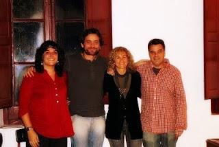 Els quatre artistes... (Fotografia: Ferran D'Armengol