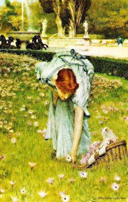 Flora: Primavera en els jardins de la Villa Borghese (Sir Lawrence Alma-Tadema)