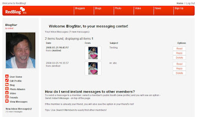 RedBlog messaging center
