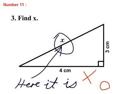funny student answer: trigonometry
