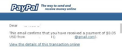 Paypal payment received email notification
