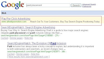 Search Engine Marketing: Paid Placement