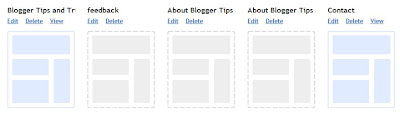 Blogger Edit Pages in Dashboard