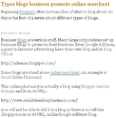 Post on business blogs with original title
