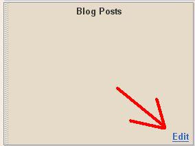 Blogger LAYOUT edit blog post