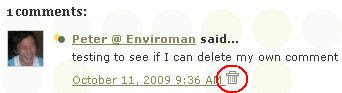 trashcan delete comment icon