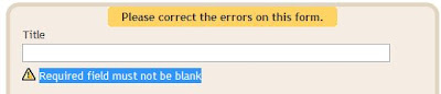 Blogger gadget save problem - required title field must not be blank