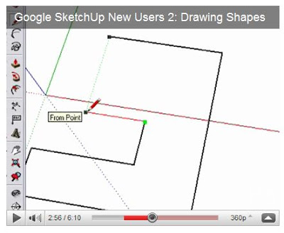SketchUp Inferring to line up edges