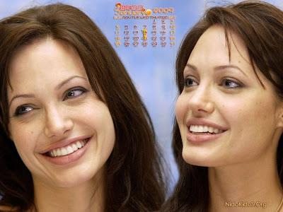 Angelina Jolie wallpapers 1 calendar 2009 Angelina Jolie 2009 Calendar
