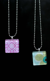 crafty jewelry: glass tile pendants tutorial
