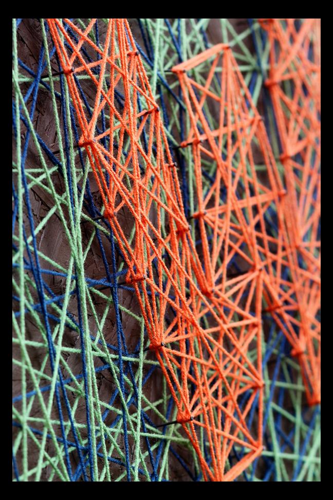 Monogram wall hanging sugar bee crafts for Yarn wall art