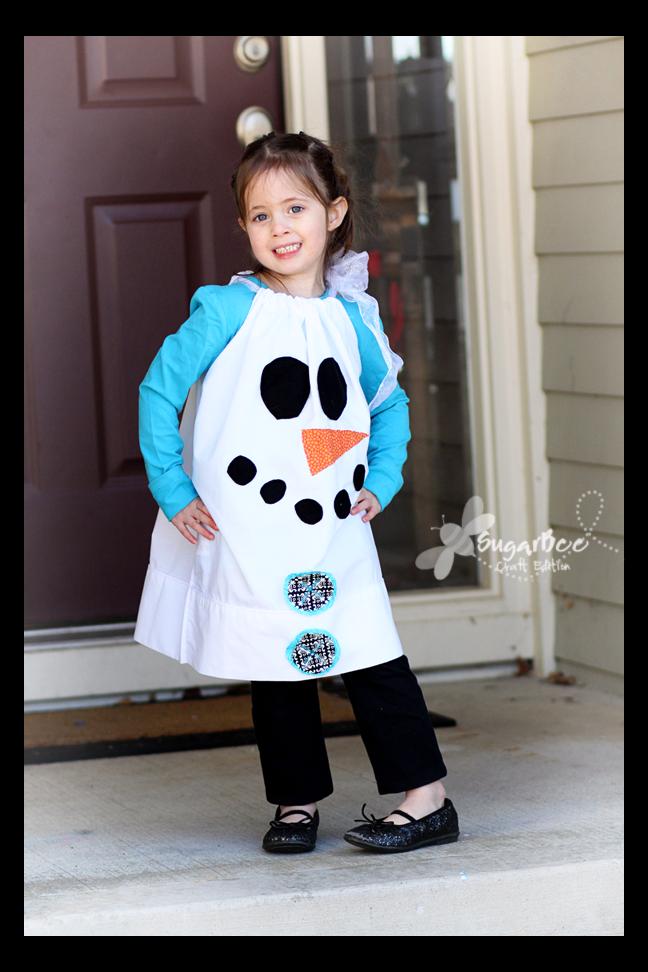 Pillowcase Snowman Dress