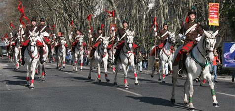 Mounted Guard by the Military College from Portugal (Colégio Militar)