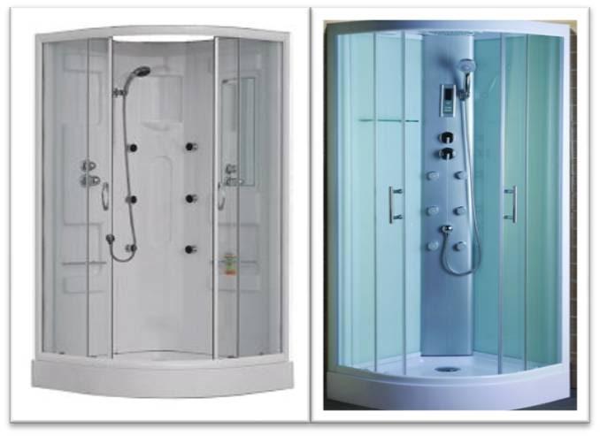 Ba o con ducha cabinas de hidromasaje de 80x80 las m s - Duchas cabinas de bano ...