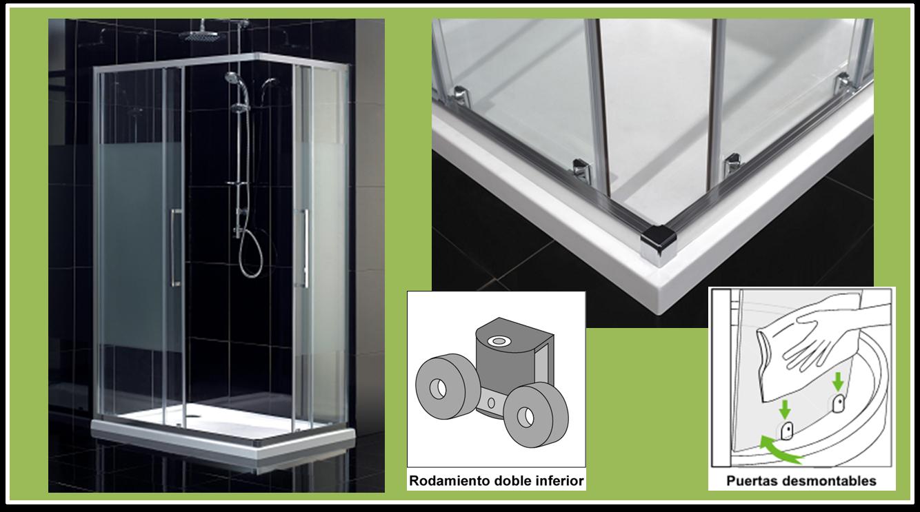 Puertas De Baño Tipo Oceano: Ducha: Las 5 mamparas de ducha correderas más fáciles de limpiar