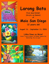 First Solo Exhibit at Age 12   (Aug16 - Sept13, extended to Oct14, 2008)