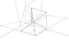 Axonometria Ortogonal de um sólido composto por duas pirâmides