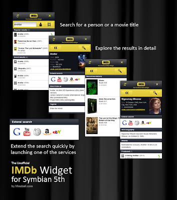 Download Widget IMDb for Nokia 5800 XpressMusic, 5530, X6, 5230, 5233