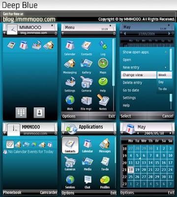 Deep Blue Nokia 5800