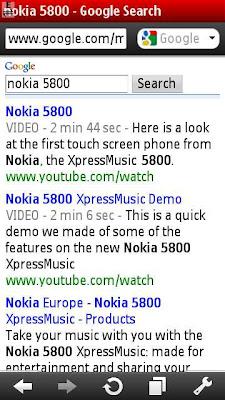 Opera Mini Nokia 5800
