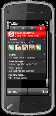 Nimbuzz Twitter Nokia 5800