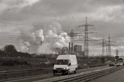 industrial landscape, highway germany, photo dominique houcmant, goldo graphisme