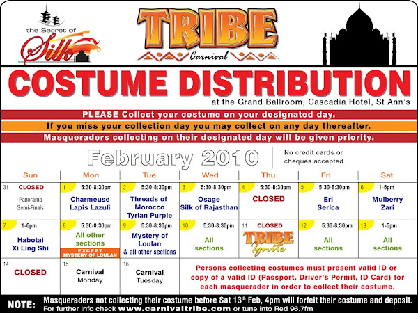 TRIBE 2010 Costume Distribution