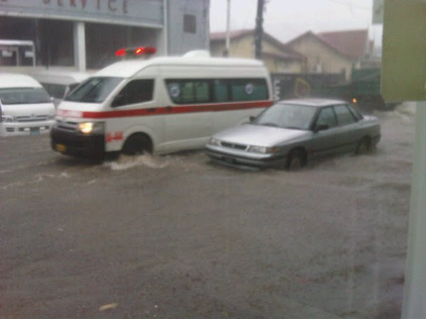 St.Lucia Battered Today Again ... FLASH FLOODING!