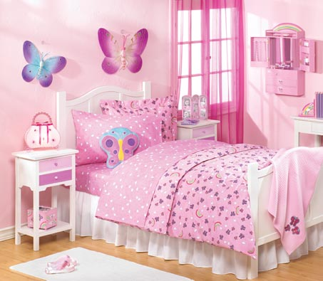 Pink bedroom designs for girls