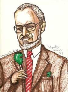 Dr Stanton Friedman Live Caricature